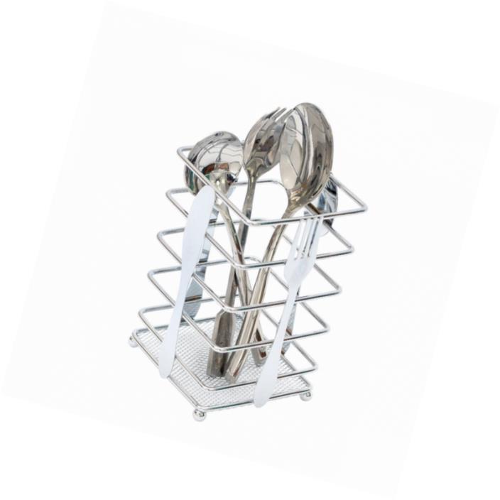Kitchen Utensil Holder Drying Rack Flatware Steel Cutlery Storage Organizer New