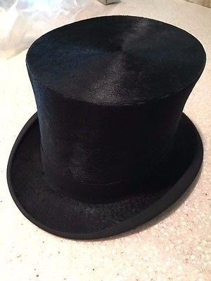 Vintage Knox Brand Top Hat - Gorgeous!!  1800's-early 1900's - Great Shape!