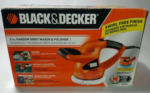 Black & Decker WP900 6-Inch Random Orbit Waxer/Polisher USED Buffer pads used