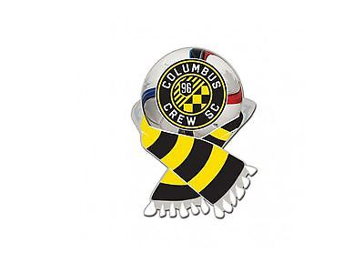 Columbus Crew SC WinCraft Black & Yellow Soccer Scarf Metal Lapel Pin