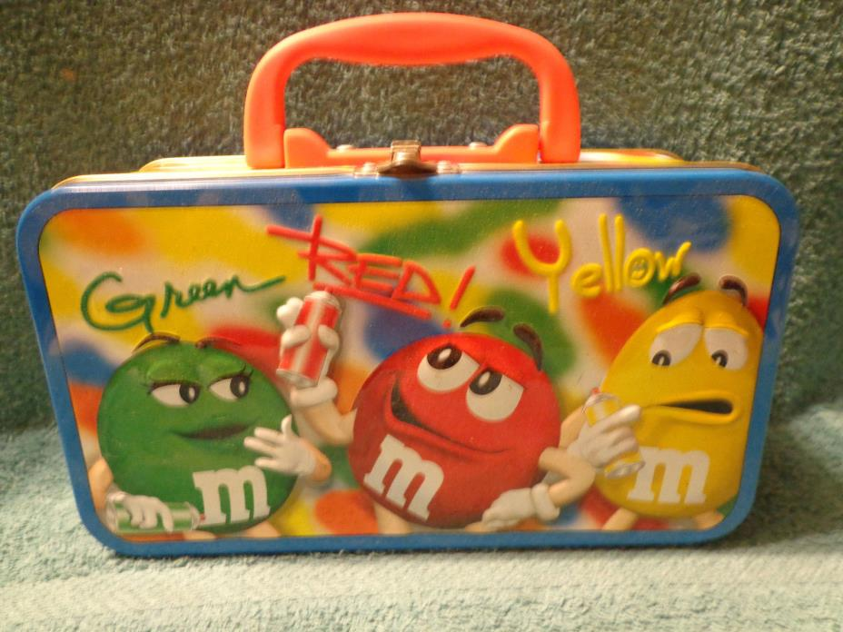 DPCI M&M Candy Small Metal Lunch Box USED
