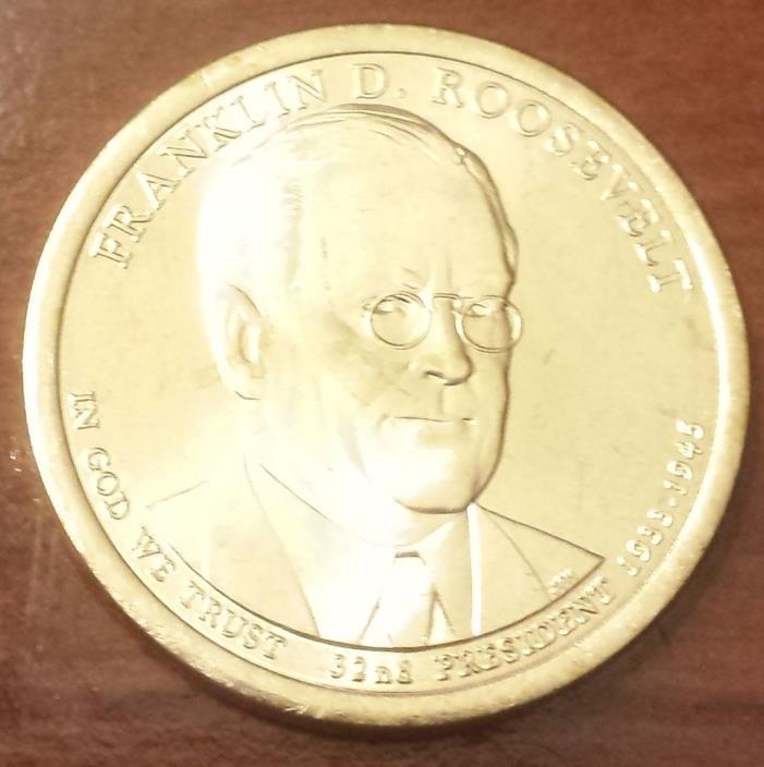 2014-D $1 Franklin D Roosevelt Presidential (Golden) Dollar From Mint Bag (6720)
