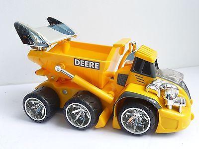 ERTL John Deere yellow Modified Lowrider Dump Truck Lights Sounds