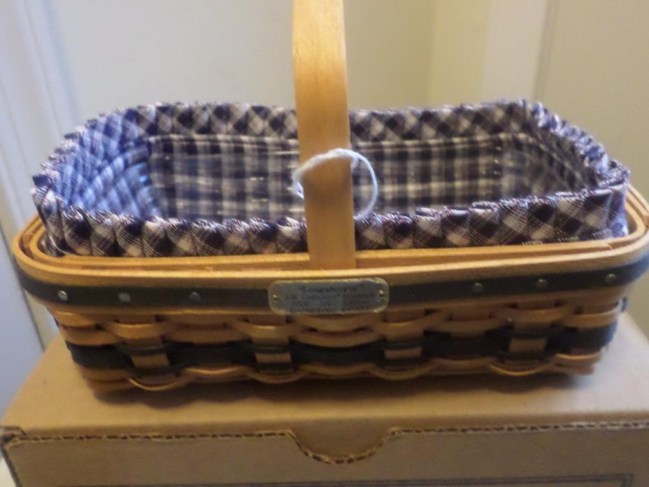 LONGABERGER COLLECTOR CLUB MINIATURE JW GATHERING  BASKET COMBO