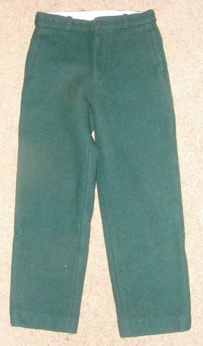 Vintage Johnson Woolen Mills RARE YOUTH hunting wool pants sz 12 x 23