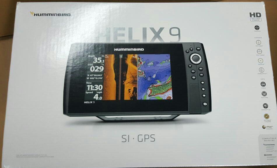 New in Box Humminbird Helix 9 SI GPS Fish Finder Combo 409950-1