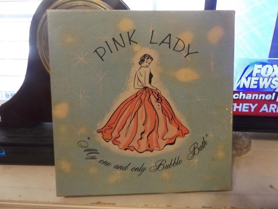Cardboard BOX -COLLECTORS BOX -BUBBLE BATH-VINTAGE PINK  LADY