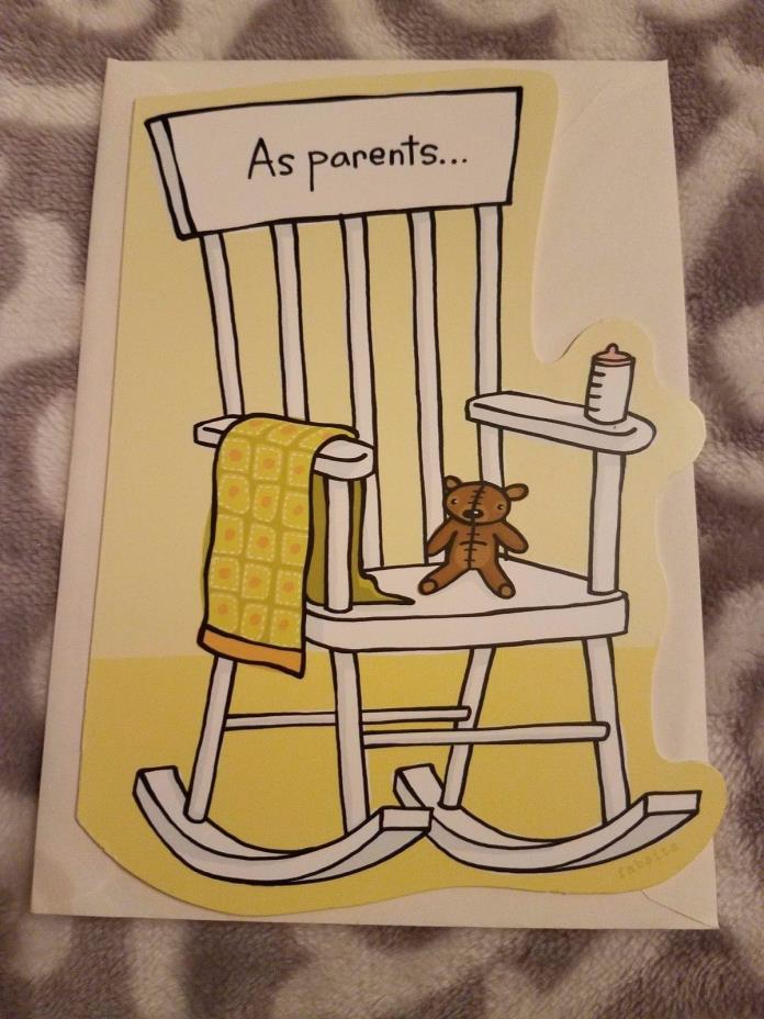 Hallmark Shoebox Congratulations New Baby Greeting Card Rocking Chair Envelope