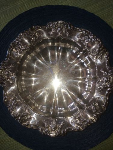 Vintage Towle Old Master Silverplated Medium Round Serving Bowl 11