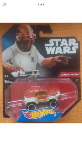 Hot Wheels Star Wars Admiral Ackbar Character Cars Die-Cast Disney