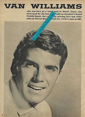 1960 VAN WILLIAMS MAGAZINE AD ARTICLE CLIPPING FULL PAGE