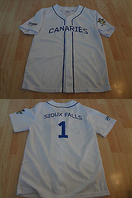 Youth Sioux Falls Canaries #1 XL Baseball Jersey