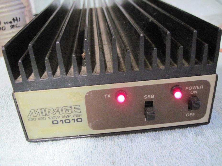 MIRAGE 100 WATT D1010 UHF HAM LINEAR AMPLIFIER AMP does FM SSB P25 D-STAR & NXDN