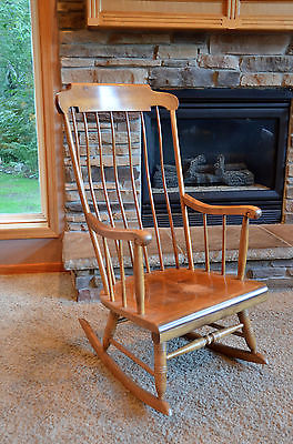 Nichols and Stone Maple Boston Rocking chair
