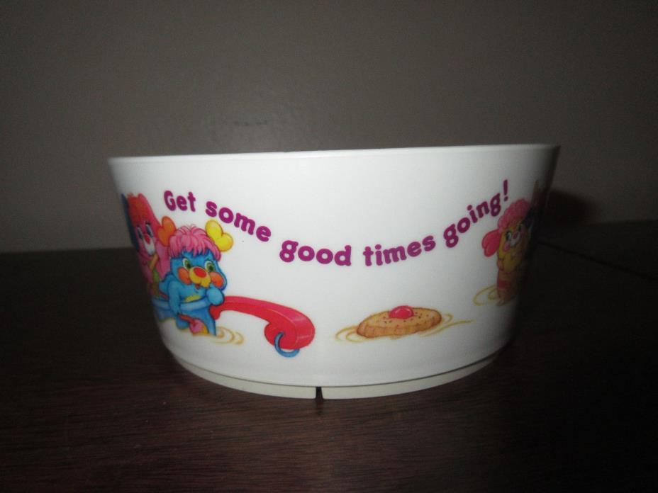 Vintage Popples Plastic Mealmine Cereal Breakfast Bowl Saturday Morning Cartoons