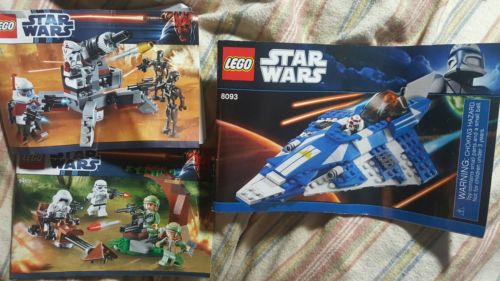 3 LEGO Star Wars INSTRUCTION MANUAL ONLY –  8093 9488 9489