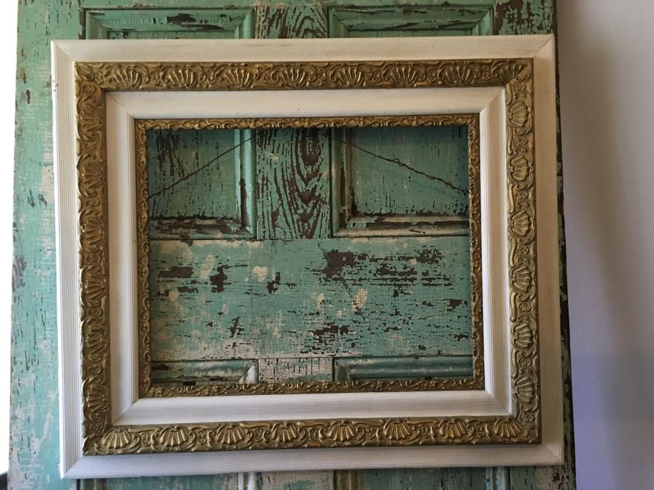 Antique Victorian Fabulous Wood Gesso Gold Gilt  Layered Picture Frame