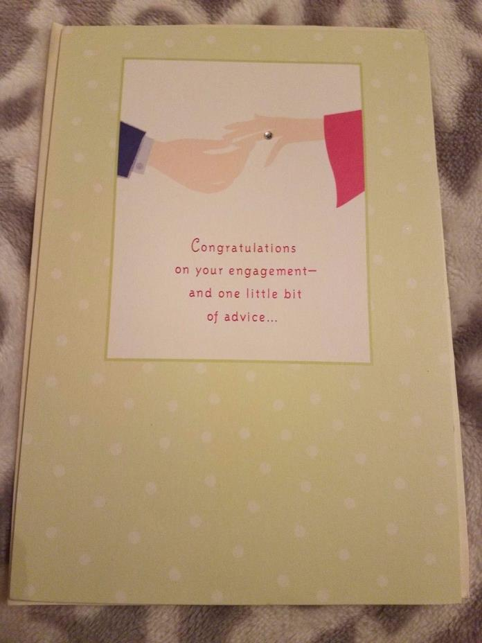 Congratulations Wedding Engagement Greeting Card Hallmark Ring w/ Envelope