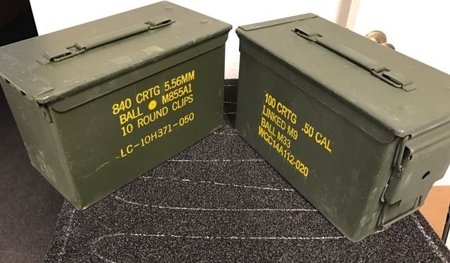 2 PACK .50 CALIBER 5.56mm AMMO CAN M2A1 50CAL METAL AMMO CAN BOX
