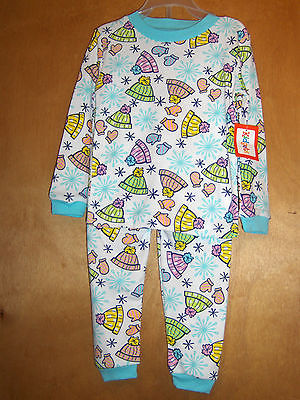 Infant Girls Hats & Mittens Pajama Set   Size 24 Months