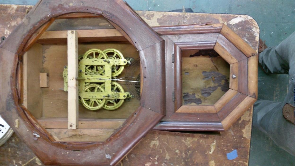 Vintage old american regulator Wall Clock