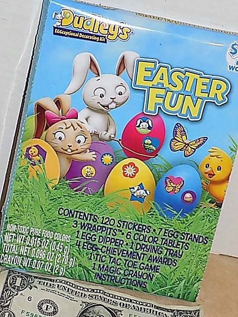 DECORATING KIT* 144pc Easter Egg Hunt EASTER FUN Non-Toxic Food Colors DUDLEY'S