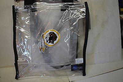 Washington Redskins Clear Zip Tote Bag NFL New 12 x 11 x 5