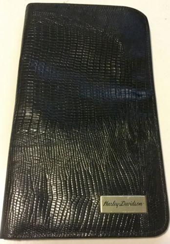 GENUINE HARLEY DAVIDSON WOMEN'S WALLET~ BLACK FAUX SNAKE SKIN