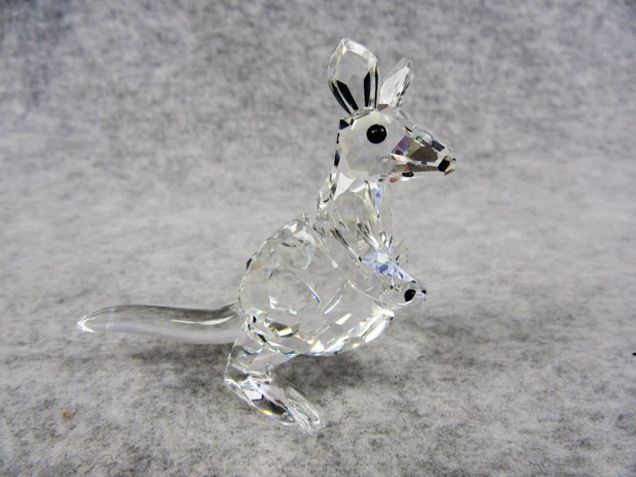 Swarovski Figurine Kangaroo with Baby 181756 with Original Packaging