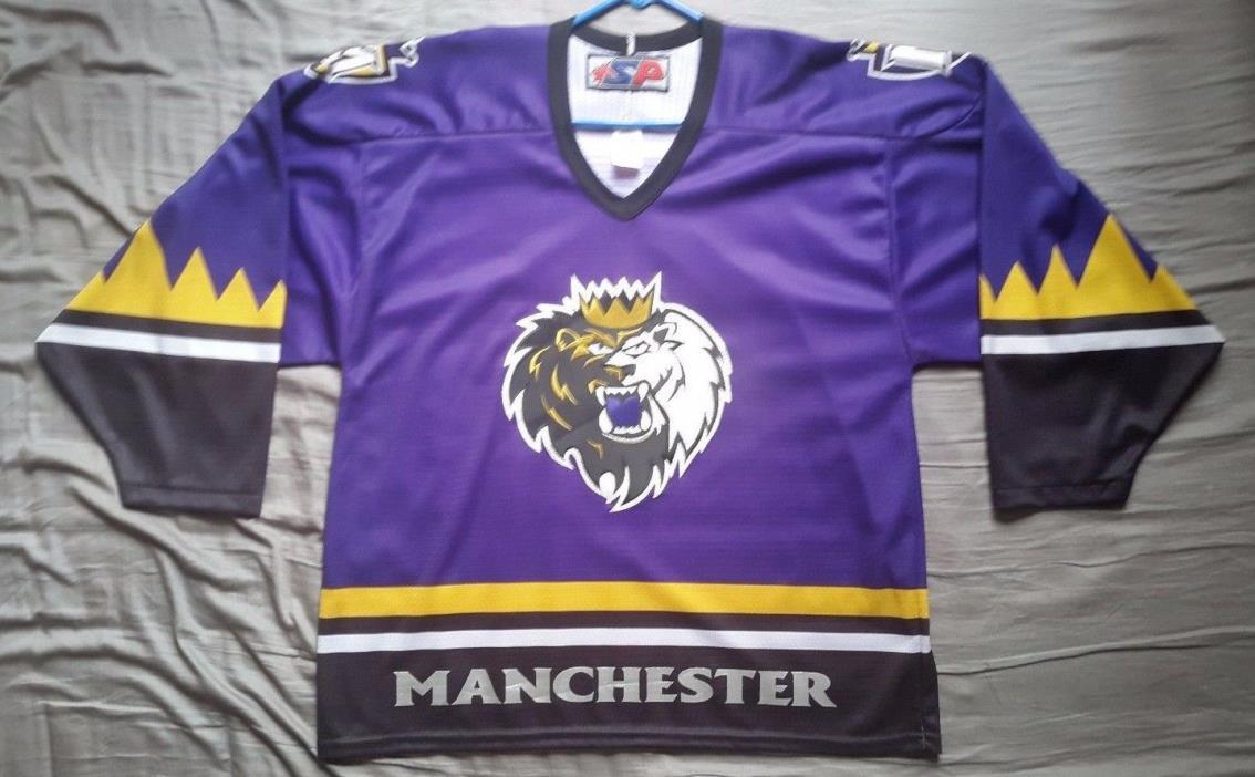 Men's SP AHL Manchester Monarchs purple hockey jersey size L
