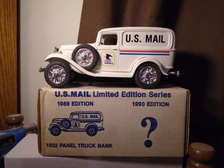 US Mail 1932 Ford Panel Diecast ERTL Truck Bank Third Edition Stock # 9052UA