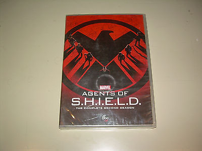 Second Season 2 Two Sealed NEW MARVEL AGENTS OF SHIELD (DVD,2015,5 DISC SET) ABC