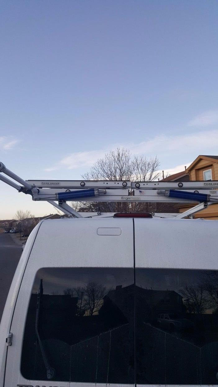 Prime Design Ergo Rack Hydraulic Lift Ladder Rack for Small Vans