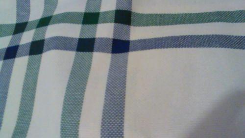 Hunter green & Navy windowpane CHARLES CRAFT aida 14ct fabric (108