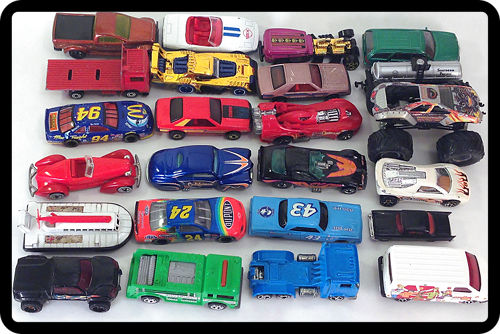 Lot of diecast toy cars - Hot Wheels, Matchbox, some rare, vintage