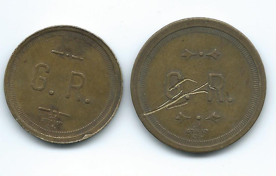 2 Elko, Nevada GOOD FOR TRADE TOKEN, 25¢ & 5¢ G. R.
