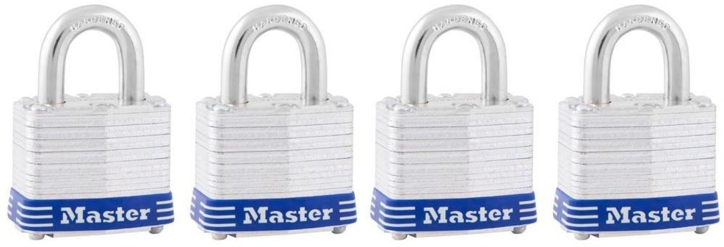 Master Lock Key Lock Toolbox Padlock (4-Locks) New