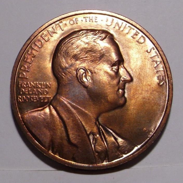 circa 1960's Franklin D, Roosevelt Medal , Gem BU