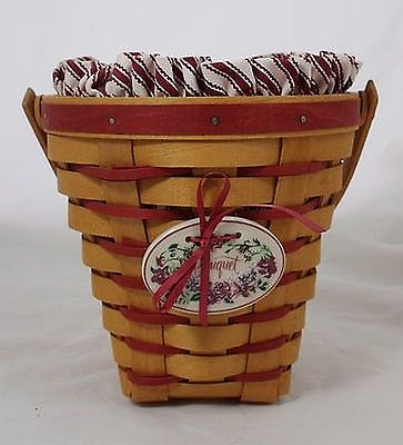 Longaberger 1996 Sweetheart Bouquet Basket Combo - Perfect