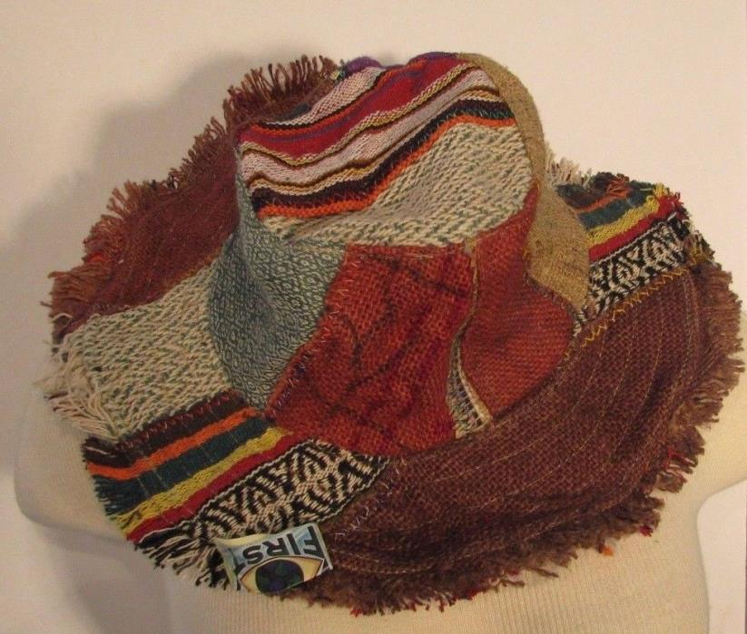 NEW Hippie Fav HAT #22 Recycled PATCHWORK Mojo Time Womens Mens Ful Sz Woodstock