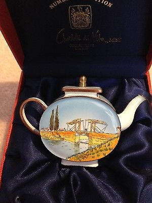 Charlotte Di Vita LANGLOIS BRIDGE by Vincent Van Gogh Enamel Teapot