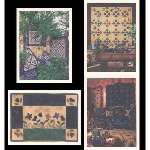 SET OF 4 QUILT NOTECARDS, from Anne's Quilt Loft, *NEW*