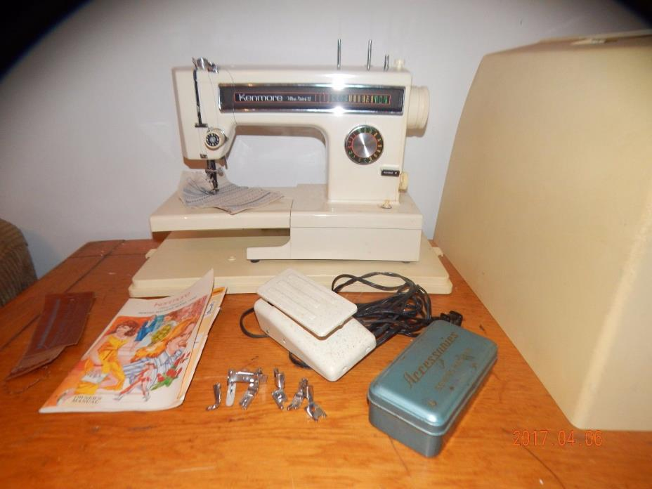 nt1075) HEAVY DUTY Kenmore ultra 12 stitch 1amp free arm SEWING MACHINE leather