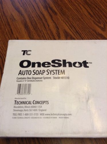 Technical Concepts 401310 Chrome OneShot Auto Soap Dispenser System w/Soap