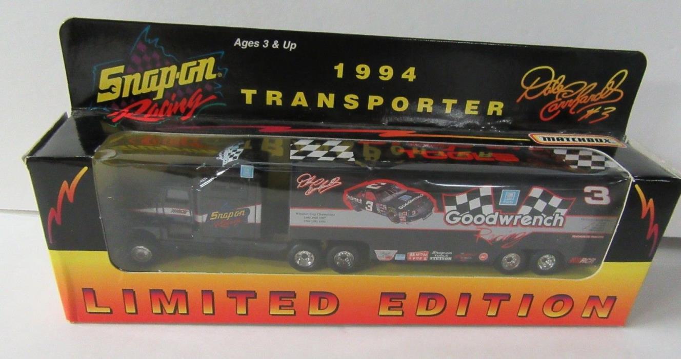 1994 Dale Earnhardt Snap-On Racing Matchbox Transporter NASCAR Die Cast 1:87
