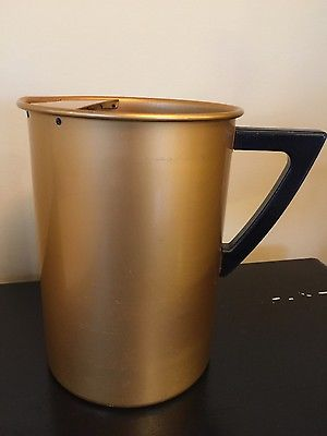 vintage Perma Hues Aluminum pitcher  copper color handle  8