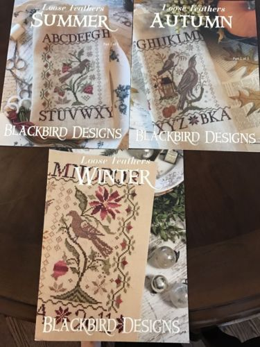 Blackbird Designs Loose Feathers Mystery Season Sampler All 3 Parts