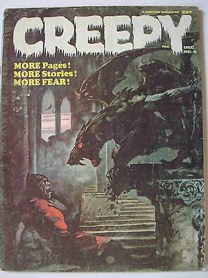CREEPY #6 COVER ART BY FRANK FRAZETTA 1965 SPINE TINGLING WARREN MAGAZINE