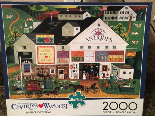 Buffalo Games Charles Wysocki Peppercricket Farms 2000pc Jigsaw Puzzle