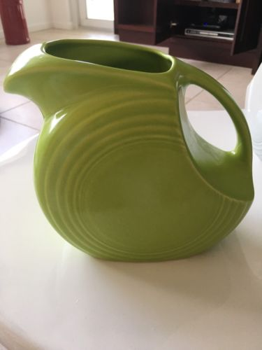 Fiesta Water Pitcher. Chartreuse Color. Vintage